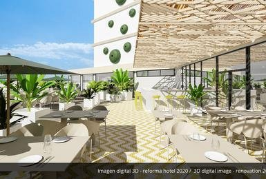 Terrace- Refurbished in 2020 AluaSoul Palma (Adults Only) Hotel Cala Estancia, Mallorca