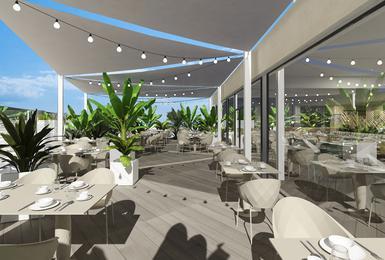 Terrace- Refurbished in 2020 AluaSoul Palma (Adults Only) Hotel Cala Estancia, Mallorca